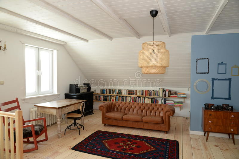 Room_1 vivente fotografia stock