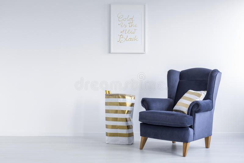 Room with wall poster stock photography