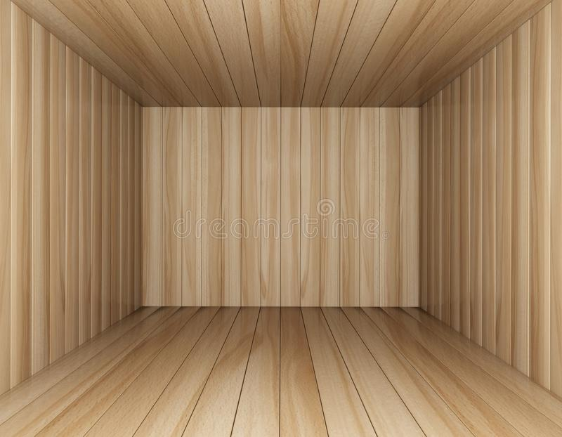 Download Room of wood decorated stock illustration. Image of color - 28561851
