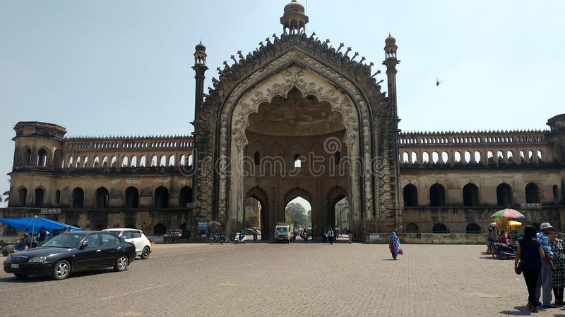 Roomi-Tor Lucknow Indien stockbilder