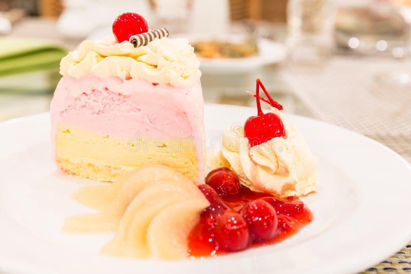 Roomijs Cake stock fotografie