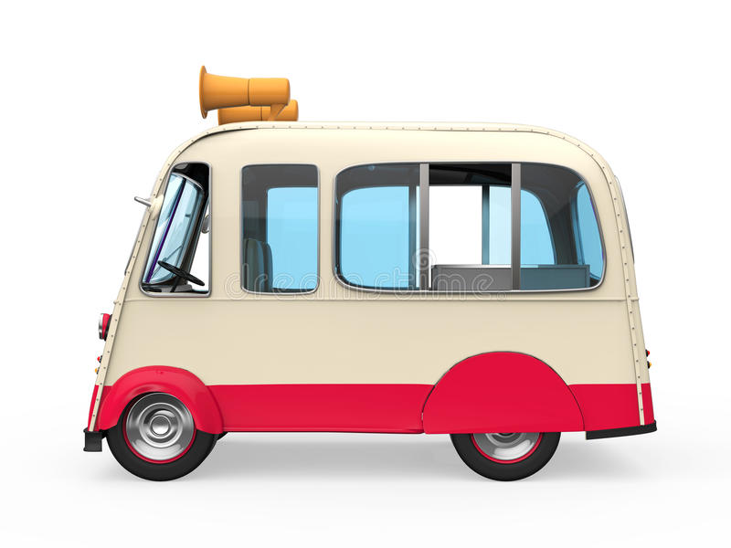 Roomijsvrachtwagen vector illustratie
