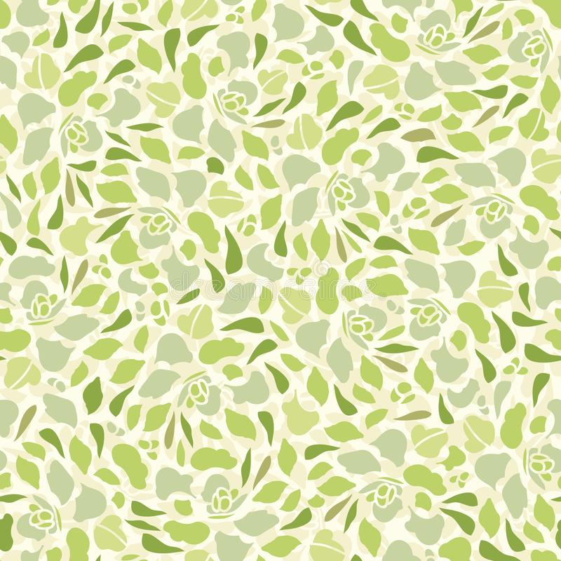 Roompatroon met succulent stock illustratie