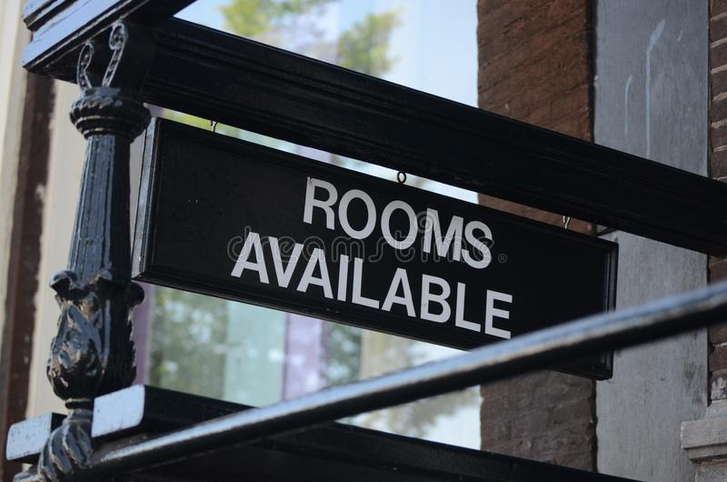 Rooms available. Sign of a motel royalty free stock photos