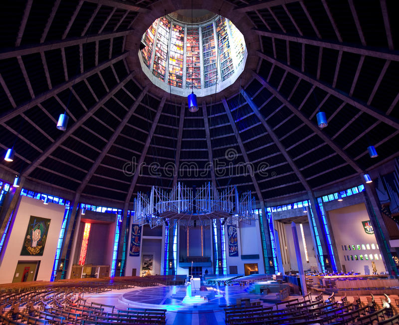 Rooms-katholieke Kathedraal - Liverpool - Engeland royalty-vrije stock afbeelding