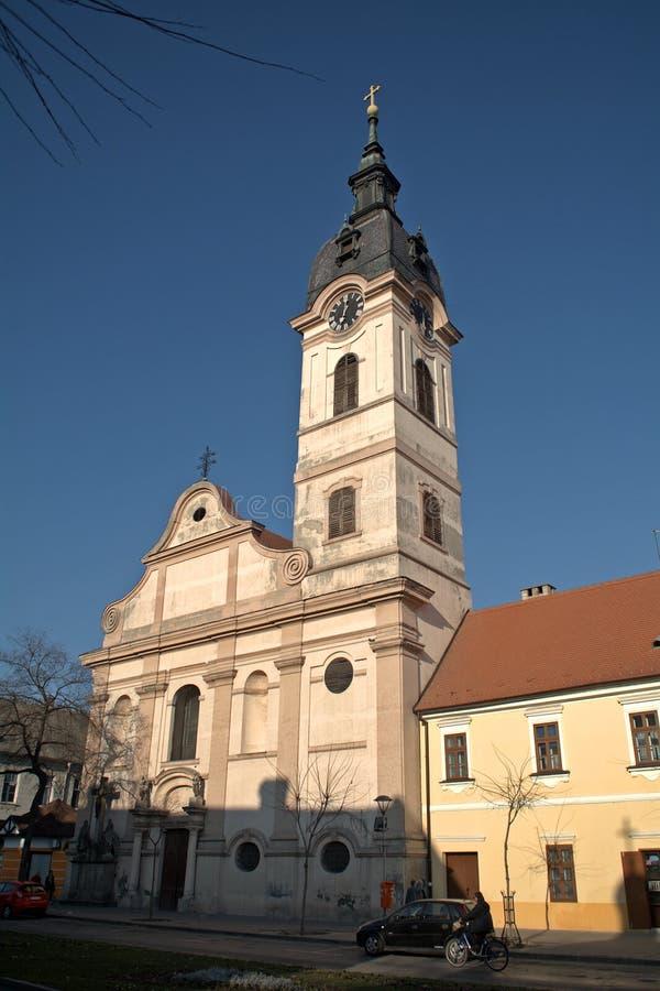 Rooms-katholieke kerk, Sombor, Servië stock foto's