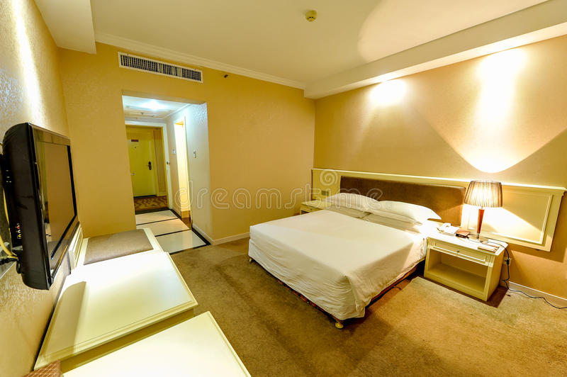Rooms. Nanchang hotel rooms Picture was taken in March 2013 royalty free stock photo