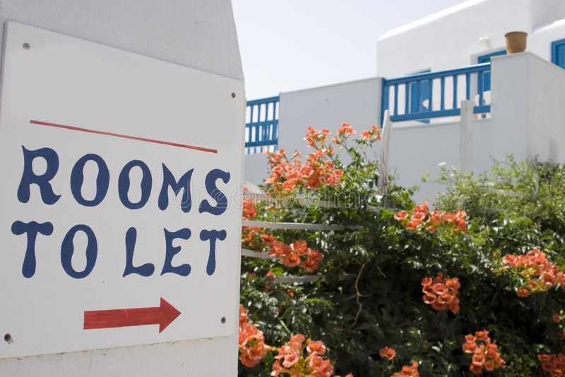 Rooms to let stock photography
