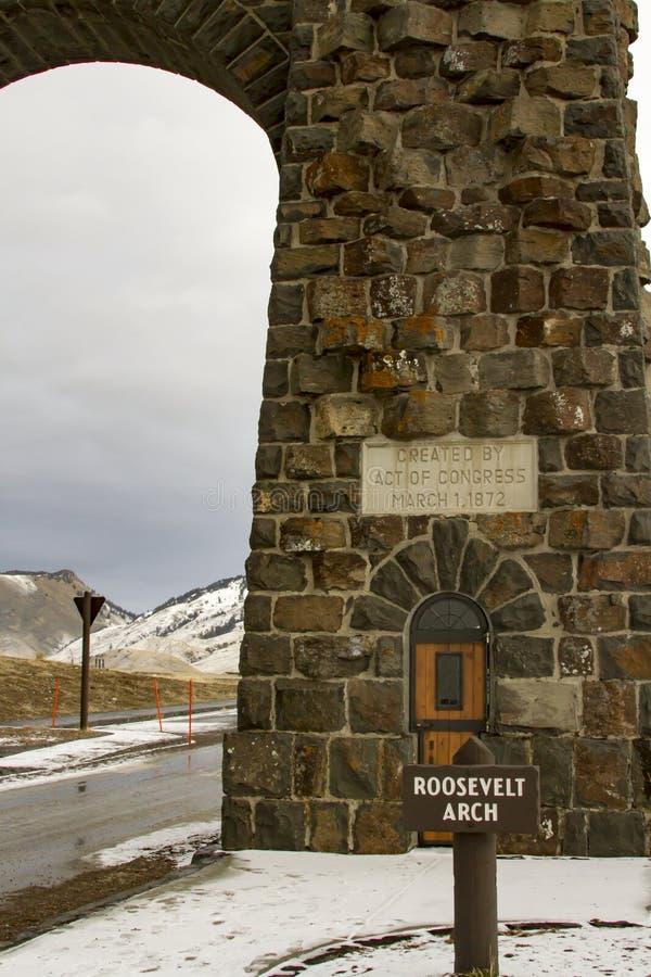 Roosevelt brama, Yellowstone park narodowy obrazy stock