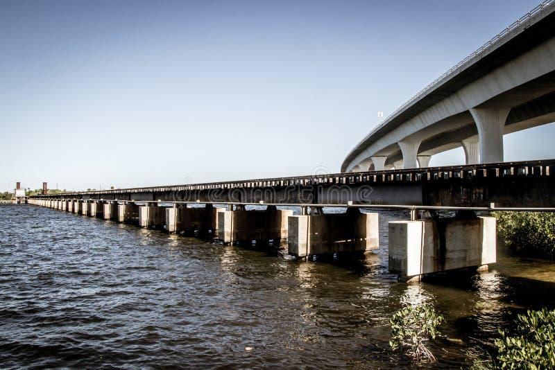 Roosevelt Bridżowy i kolejowy most zdjęcia royalty free