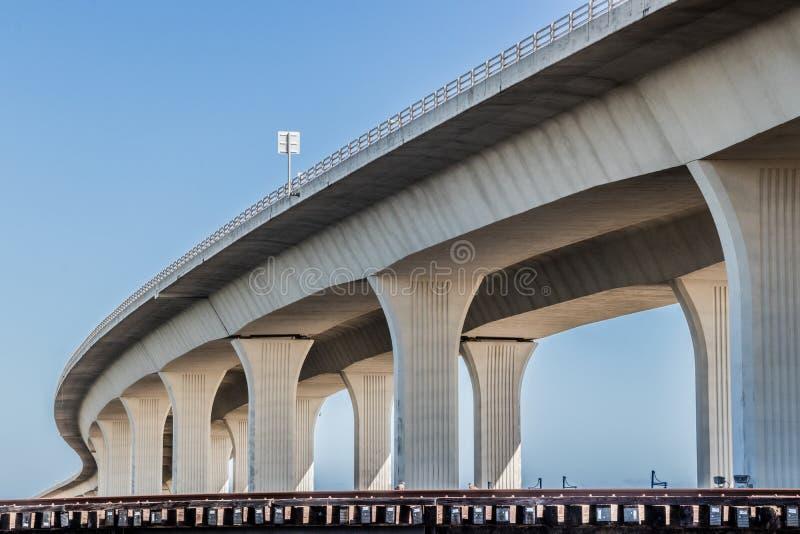 Roosevelt Bridge i Stuart, Florida royaltyfria bilder