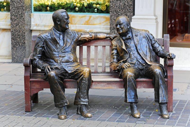Roosevelt et Churchill images stock