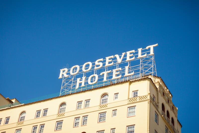 Roosevelt Hotel in Hollywood stockfotos