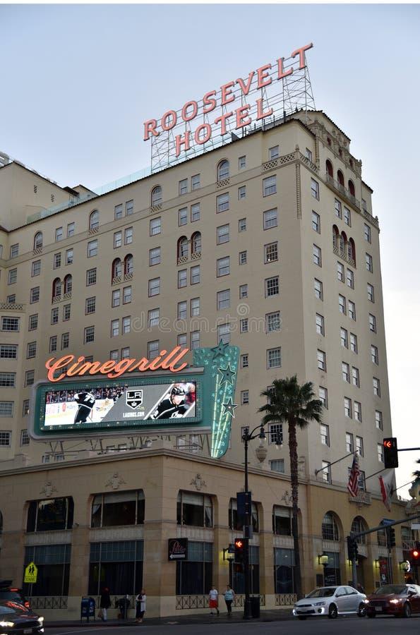 Roosevelt Hotel i Hollywood royaltyfri fotografi