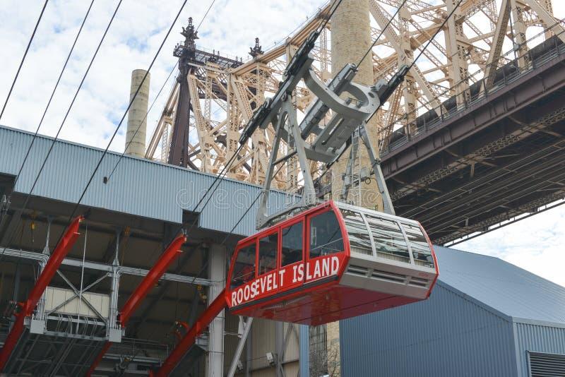 Roosevelt Island Cable Tram, Manhattan, New York royalty-vrije stock foto