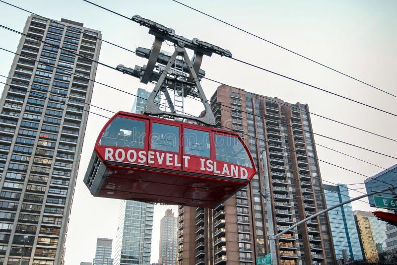 Roosevelt Island Tram royaltyfri foto