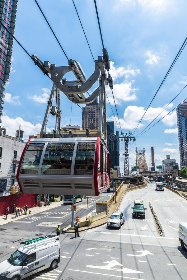 Roosevelt Island Tramway em New York City, EUA imagem de stock royalty free