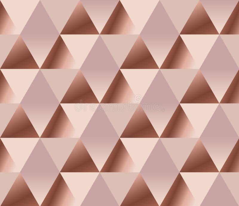 rooskleurig teder elegant abstract herhaalbaar motief stock illustratie