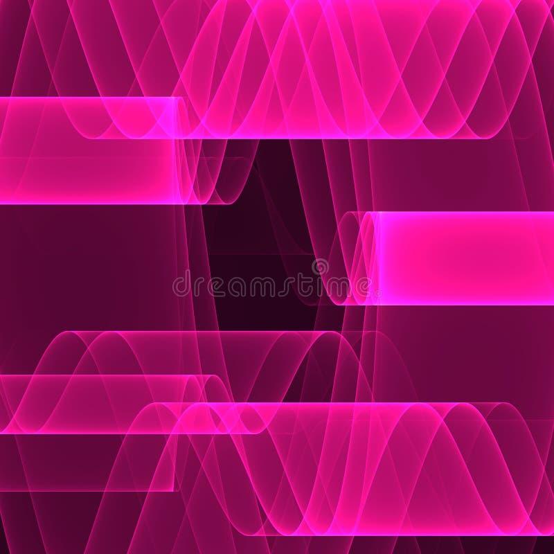 Rooskleurige onduidelijke beelden Heldere roze lijnen Geometrisch patroon in roze kleuren Digitaal art vector illustratie