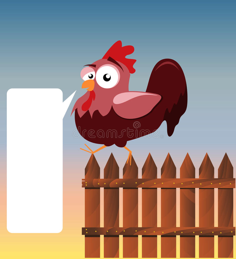 Download Rooster stock vector. Image of agriculture, dialog, claws - 21819558