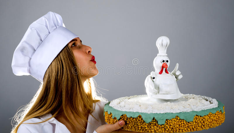 Rooster cake cake rooster, chicken pie, chicken pie, cake bird royalty free stock images