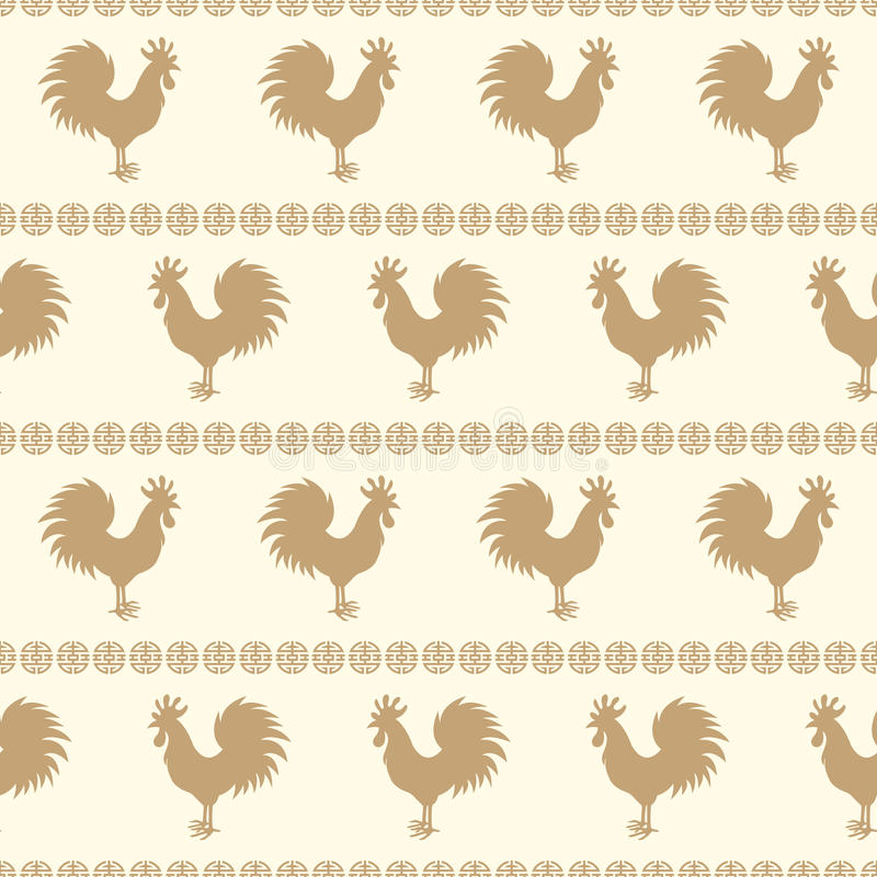 Rooster chicken seamless royalty free illustration