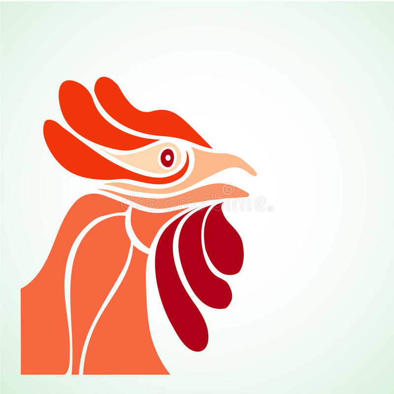 Rooster& x27 del diseño simple; cabeza de s libre illustration