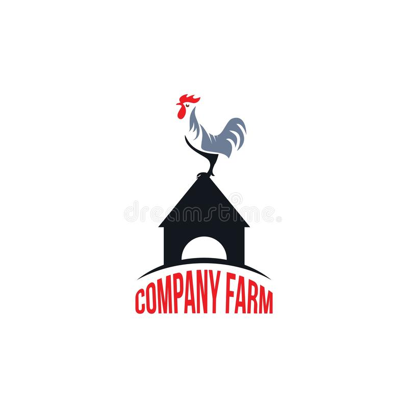 Rooster Farm Company Logo Vector Template Design Illustration lizenzfreie abbildung