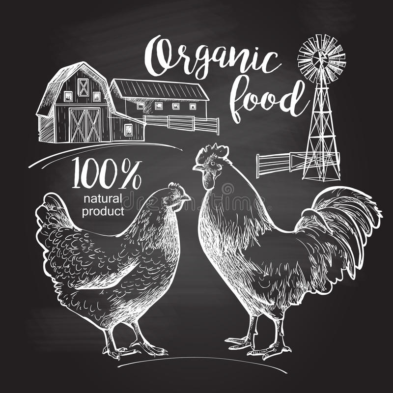 Free Rooster Hen Farm Royalty Free Stock Image - 72614906