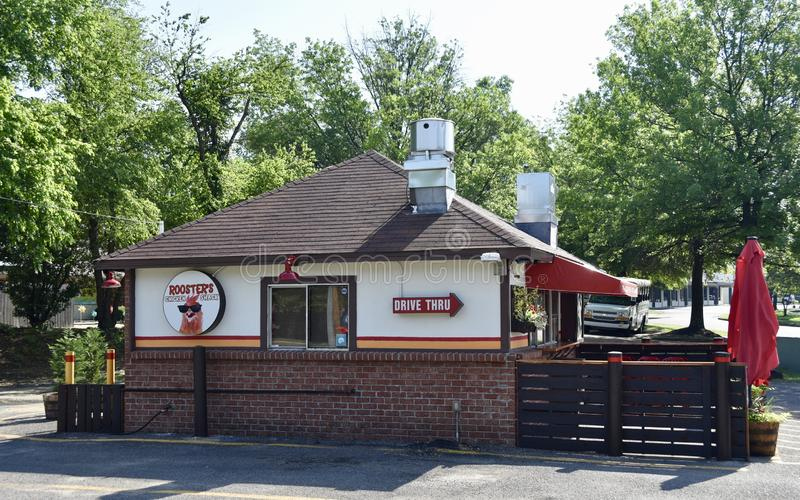 Rooster`s Chicken Shack Side View, Bartlett, TN royalty free stock photography