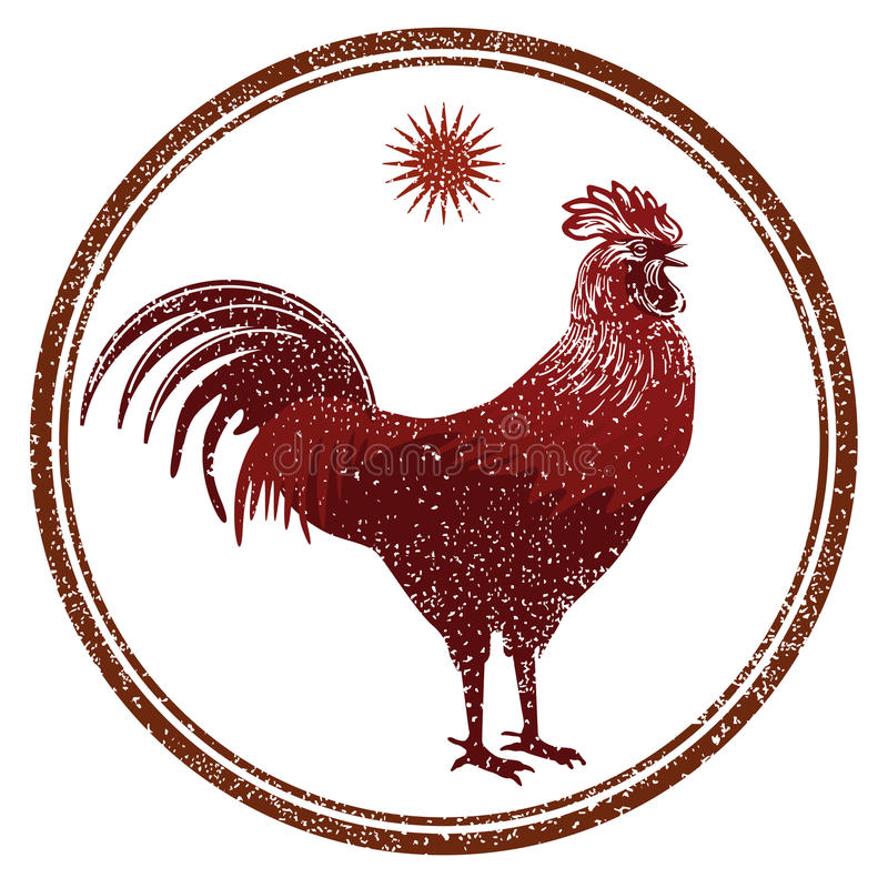 Rooster signs vector illustration