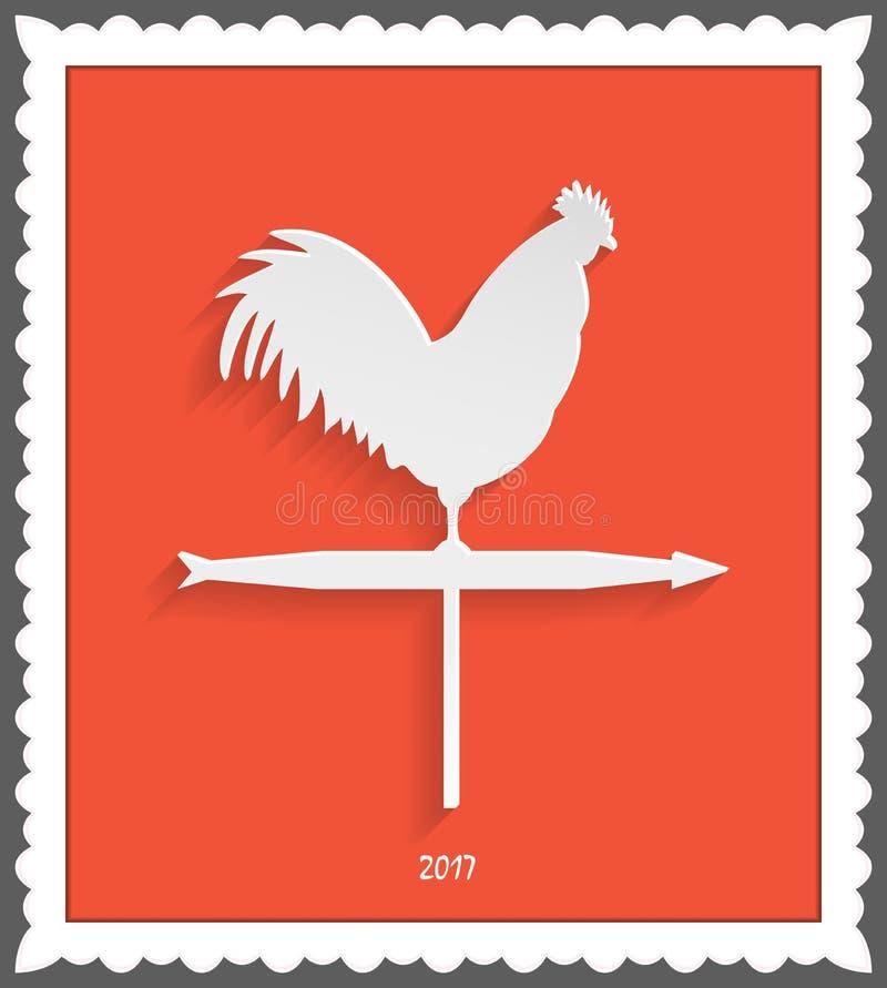Rooster weathervane frame stock vector. Illustration of chicken ...