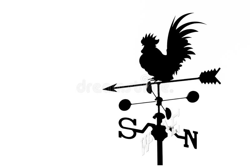 Rooster weathervane royalty free illustration