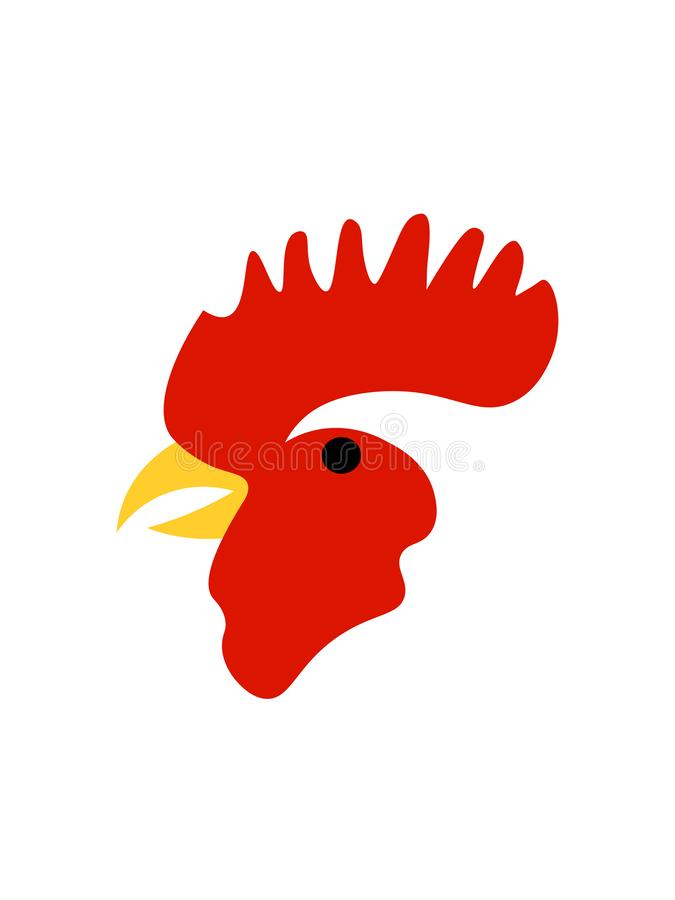 Rooster on white background royalty free illustration