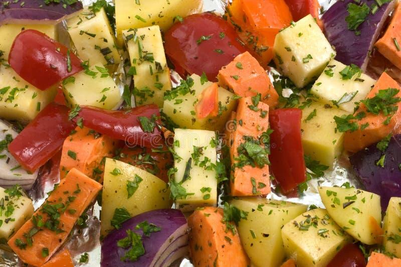 Roosterende groenten royalty-vrije stock fotografie