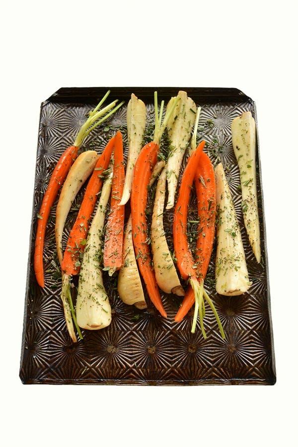 Roosterende wortelgewassen royalty-vrije stock foto's