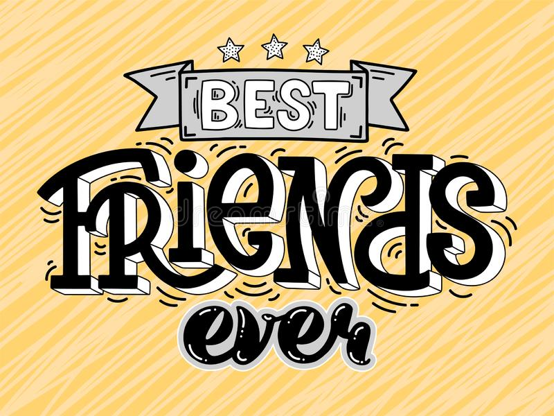 Beste Vrienden Ooit Vector Illustratie Illustratie