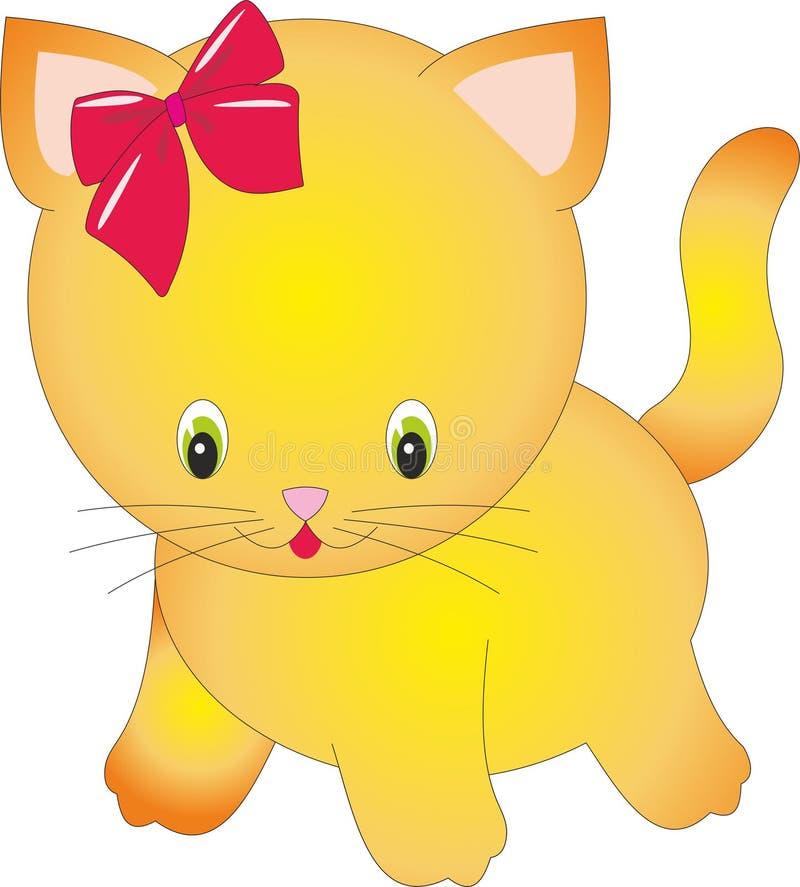 Roosterillustratie van een grappig roodharigekatje royalty-vrije illustratie
