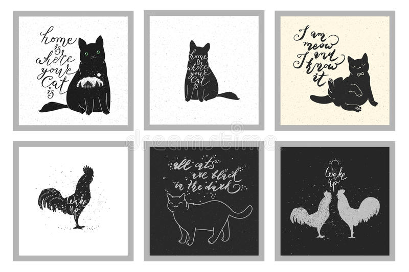 Cats Quotes Stock Illustrations – 133 Cats Quotes Stock ...