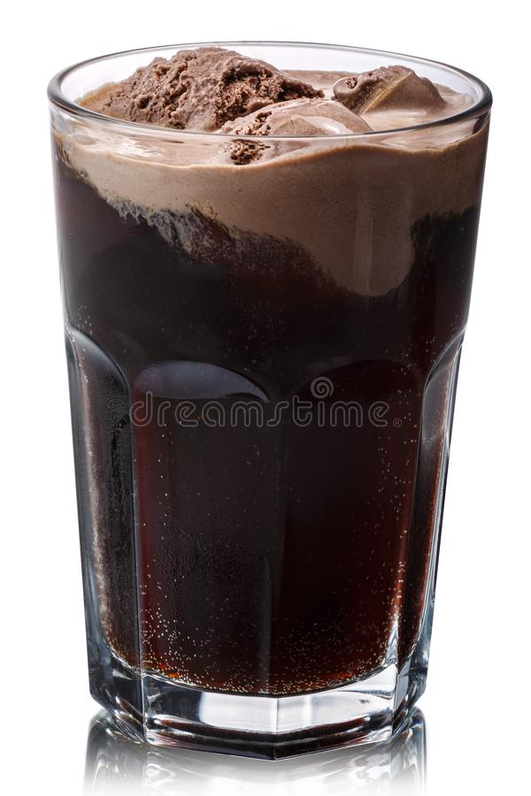 Root beer float glass, paths stock images