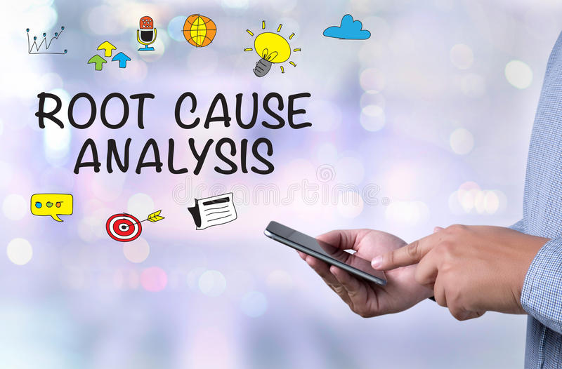 ROOT CAUSE ANALYSIS royalty free stock photo