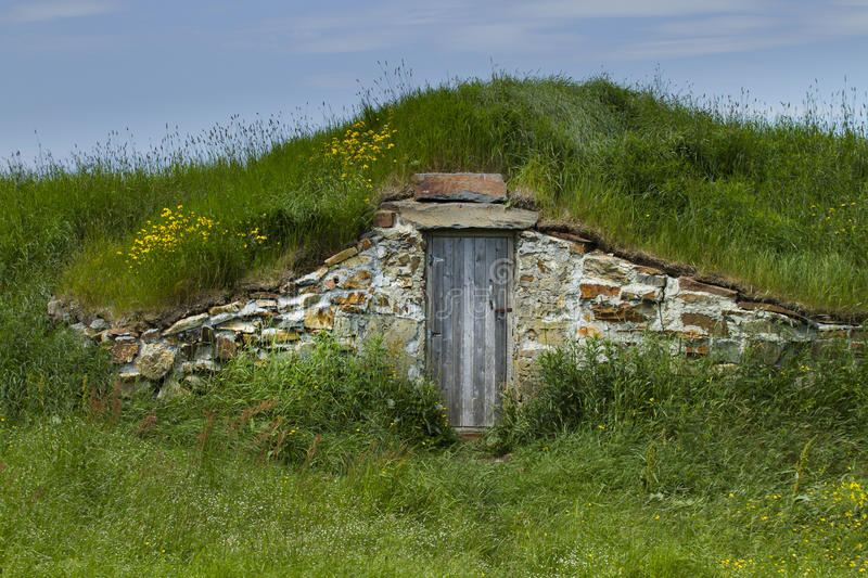 Root cellar in rural Elliston in Newfoundland and Labrador stock images