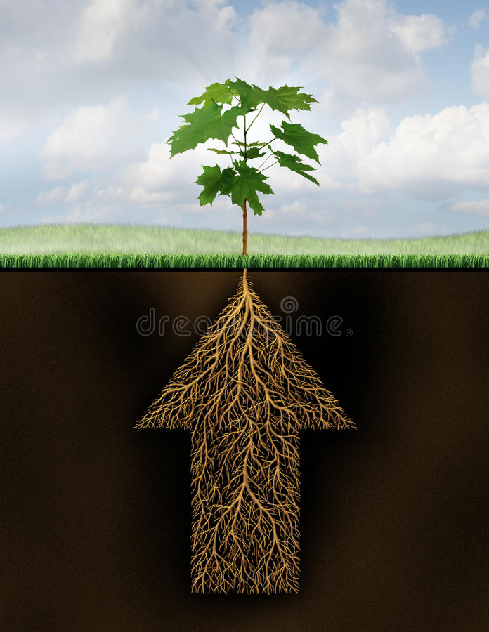 Root Of Success vector illustration