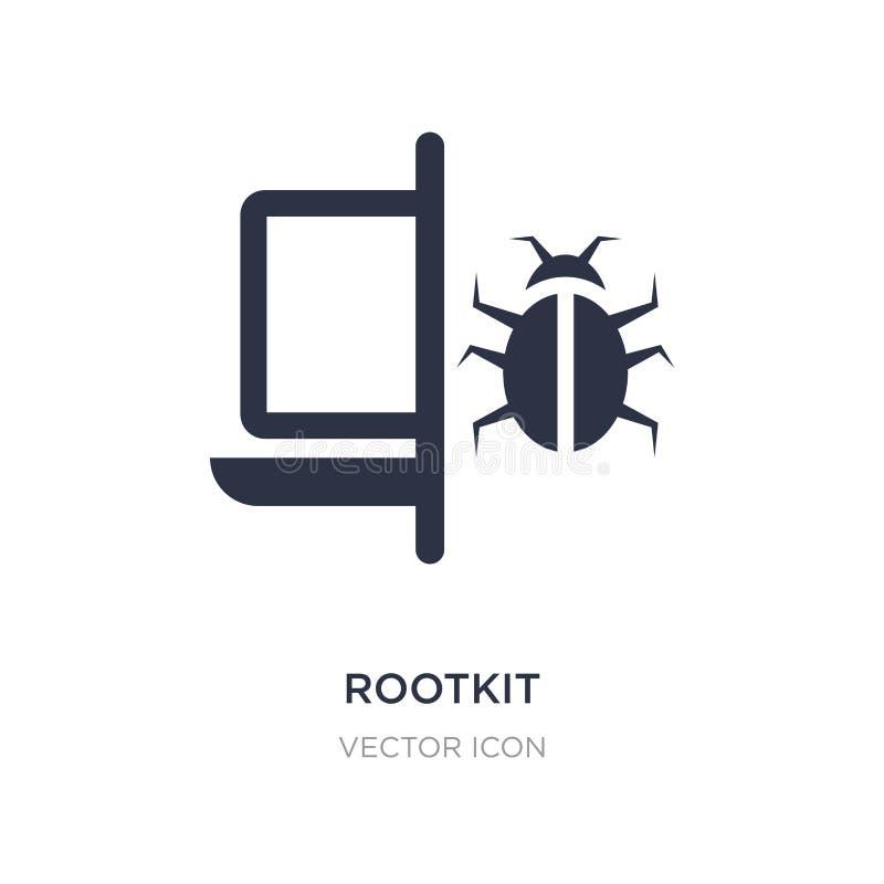 rootkitsymbol på vit bakgrund Enkel beståndsdelillustration från Cyberbegrepp vektor illustrationer