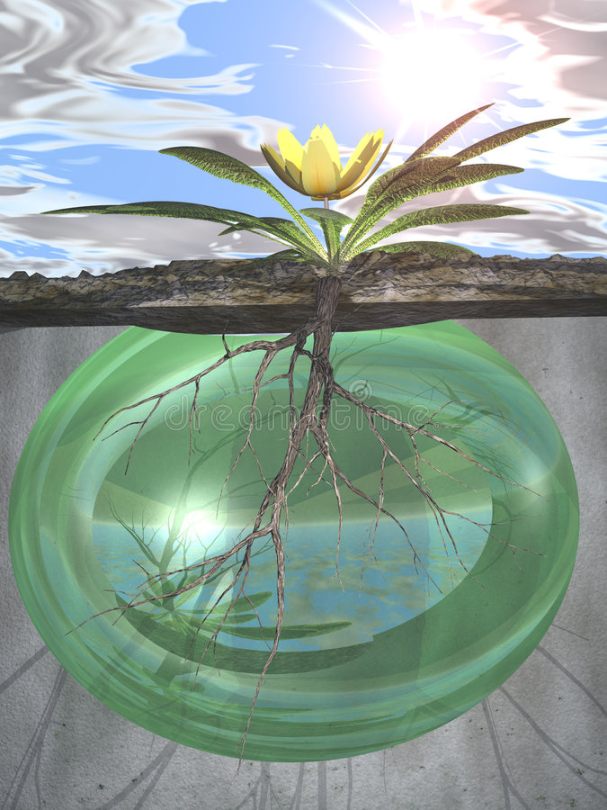 Download Roots And Growth-- Green Life Force Stock Illustration - Image: 1666834