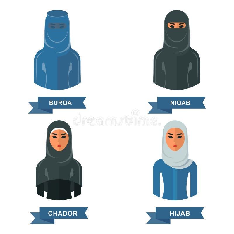 Ropa árabe de las mujeres libre illustration