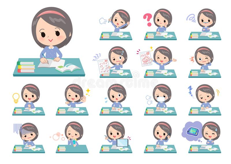 Ropa azul girl_study libre illustration