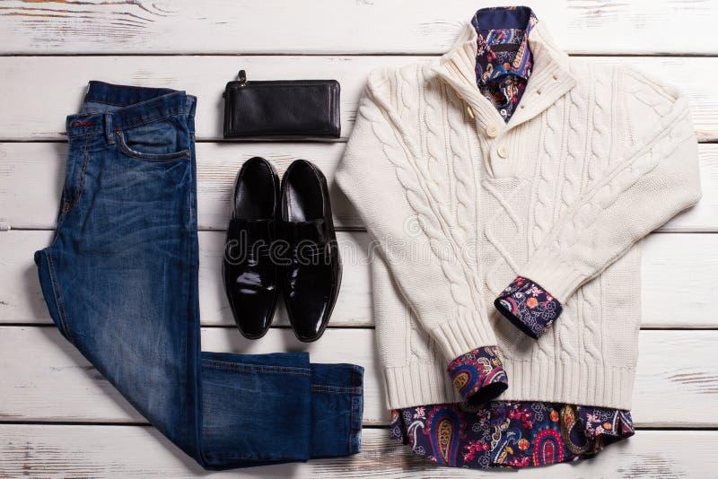 Ropa de caballero de la moda de la primavera foto de archivo
