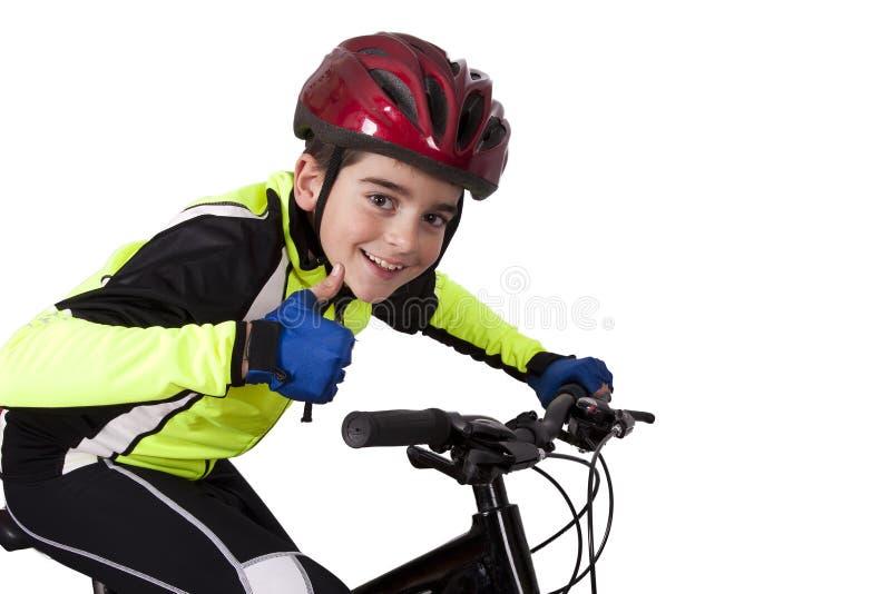Ropa de deportes de la bicicleta del niño fotos de archivo libres de regalías