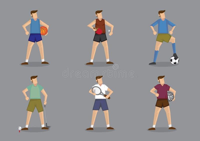 Ropa de deportes de los juegos de pelota para los hombres stock de ilustración